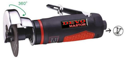 "Devomastor DM-5025T 3"" Professional Air Cut Off Tool & Guard"