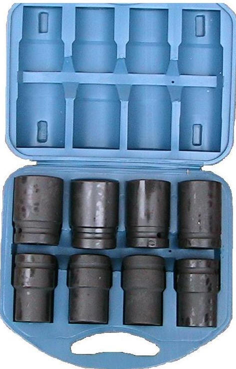 "Devomastor DM-2288L 1"" Deep Impact Socket Set 8 Pieces"
